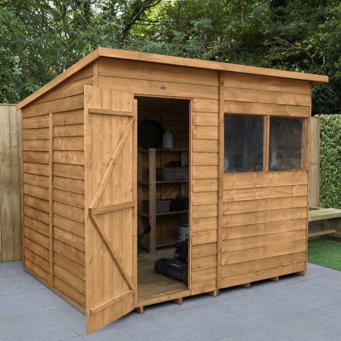 Click to view product details and reviews for 8 X 6 Overlap Dip Treated Pent Shed.