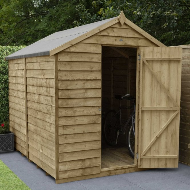 Click to view product details and reviews for 8 X 6 Overlap Pressure Treated Apex Shed.