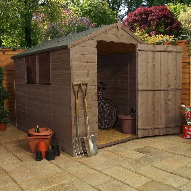 Click to view product details and reviews for 8 X 6 Pressure Treated Apex Shed.