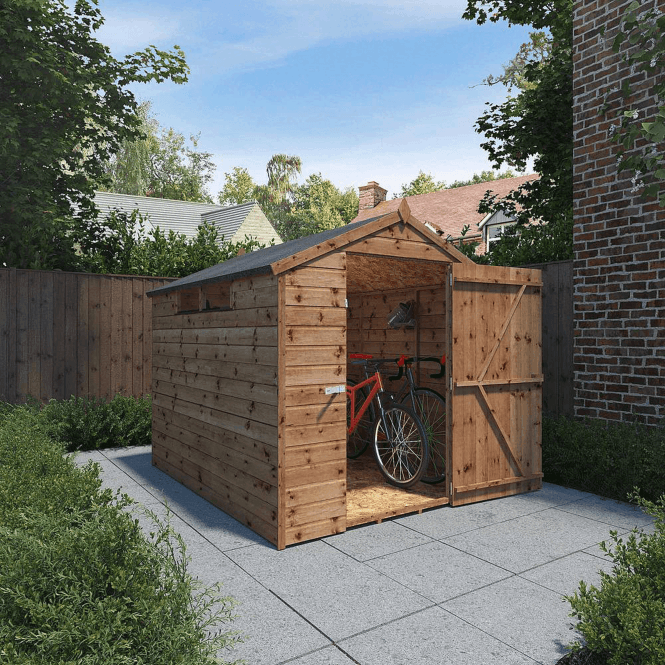 8 X 6 Pressure Treated Security Apex Shed