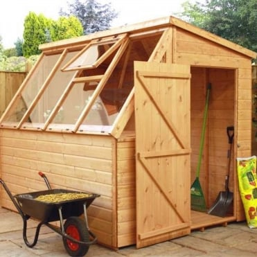 8 x 6 Shiplap Potting Shed Greenhouse