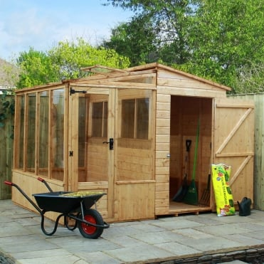 8 x 8 Shiplap Combi Greenhouse and Shed