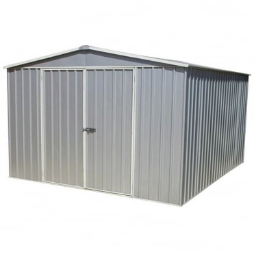 ABSCO 9.10 x 12ft Regent Apex Metal Storage Shed Available in Two Colours