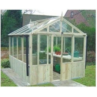 A1 Kelham Greenhouse with Double Doors: 4 Sizes