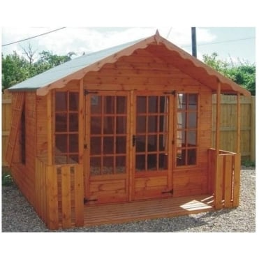 A1 Stamford Summerhouse in 5 Sizes with Optional Veranda