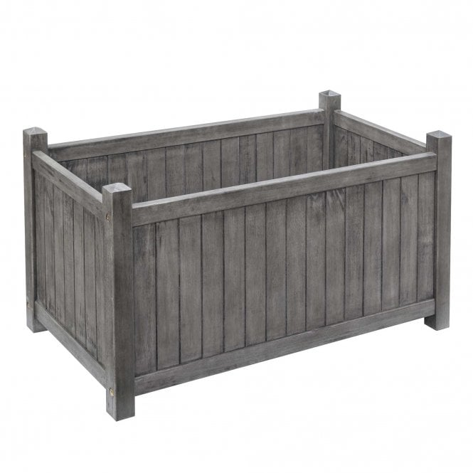 Click to view product details and reviews for Alderley Grey Rectangular Planter.