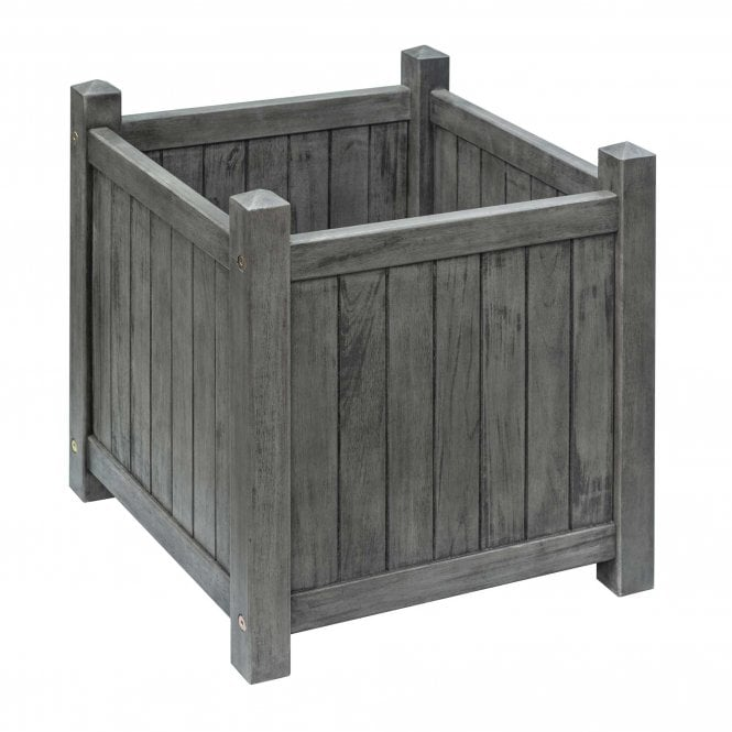 Click to view product details and reviews for Alderley Grey Square Planter.