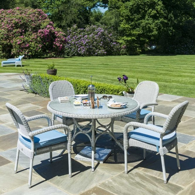 Click to view product details and reviews for Alexander Rose Classic 125m Round Dining Set With Stacking Chairs For 4.