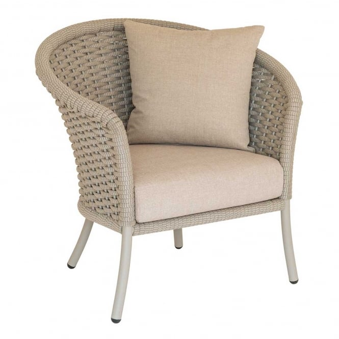 Click to view product details and reviews for Alexander Rose Cordial Rope Curved Chair.