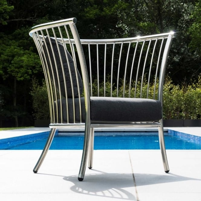 Alexander Rose Cordial Stainless Steel Chair
