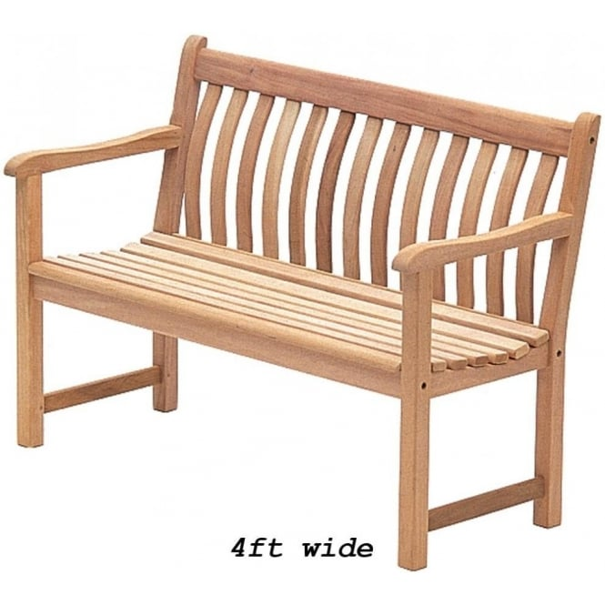 Alexander Rose Mahogany Broadfield Bench 2 Widths Available