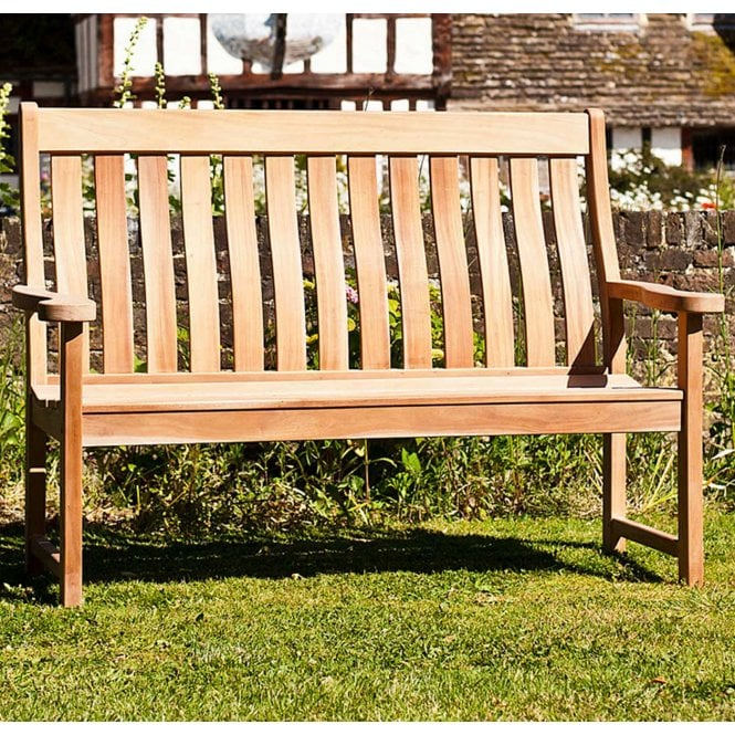 Click to view product details and reviews for Alexander Rose Mahogany High Back Bench.