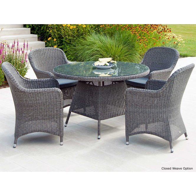 Click to view product details and reviews for Alexander Rose Monte Carlo Round Dining Set For 4.