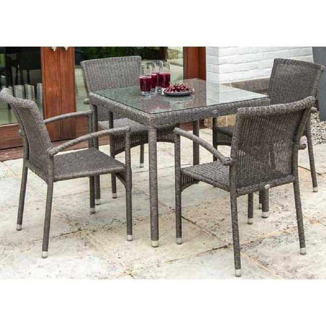 Click to view product details and reviews for Alexander Rose Monte Carlo Square Dining Set For 4.
