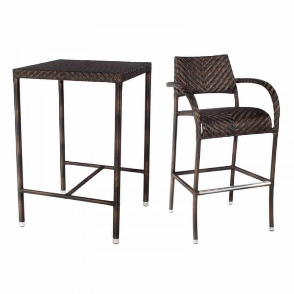 Groovy Alexander Rose Ocean Fiji Bar Set With Stools Gmtry Best Dining Table And Chair Ideas Images Gmtryco