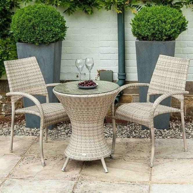 Click to view product details and reviews for Alexander Rose Ocean Pearl Wave Bistro Set.