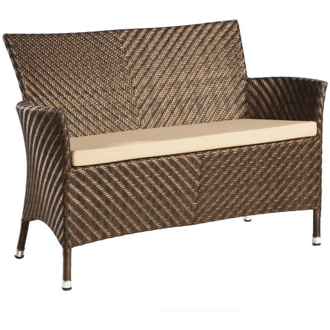 Click to view product details and reviews for Alexander Rose Ocean Wave Rattan Bench.