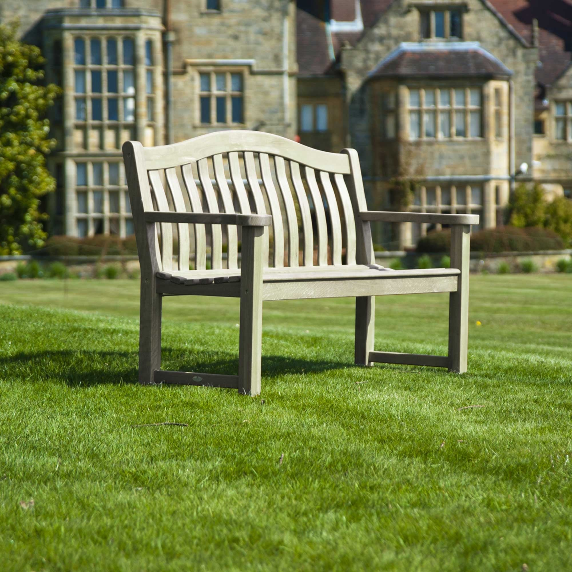 Alexander Rose Old England Grey Painted Turnberry Bench 5ft