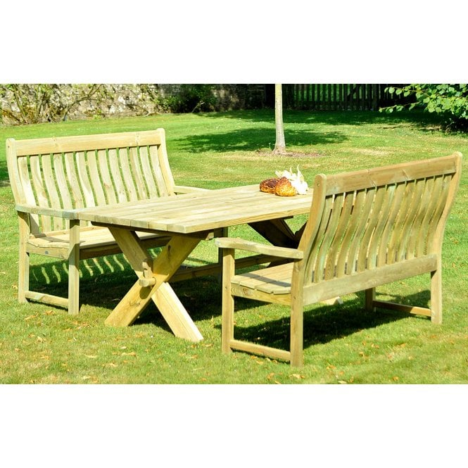 Click to view product details and reviews for Alexander Rose Pine Farmers High Back Picnic Set.
