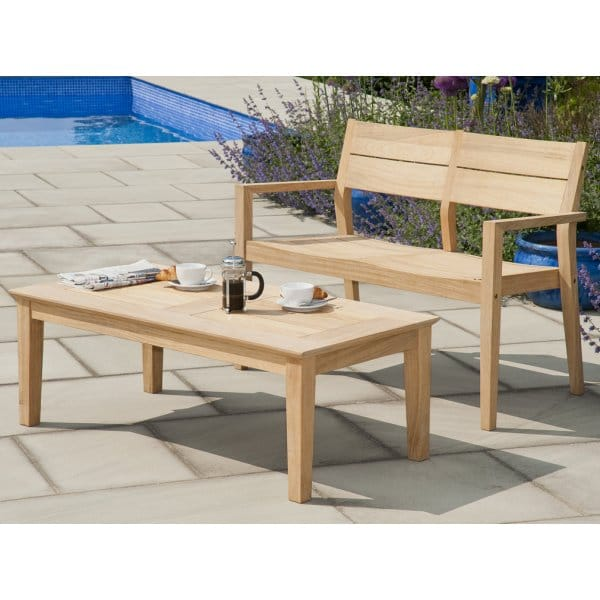 Alexander Rose Roble Tivoli Ft Bench And Coffee Table Set Seater - 4ft coffee table