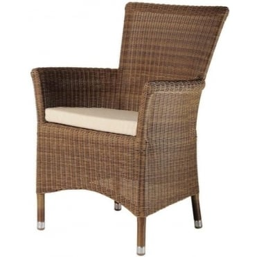 Alexander Rose San Marino Square Top Armchair