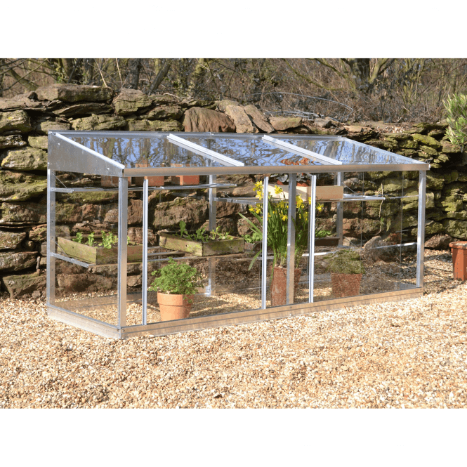 Click to view product details and reviews for Aluminium 6ft Lean To Half Wall Frame Greenhouse.