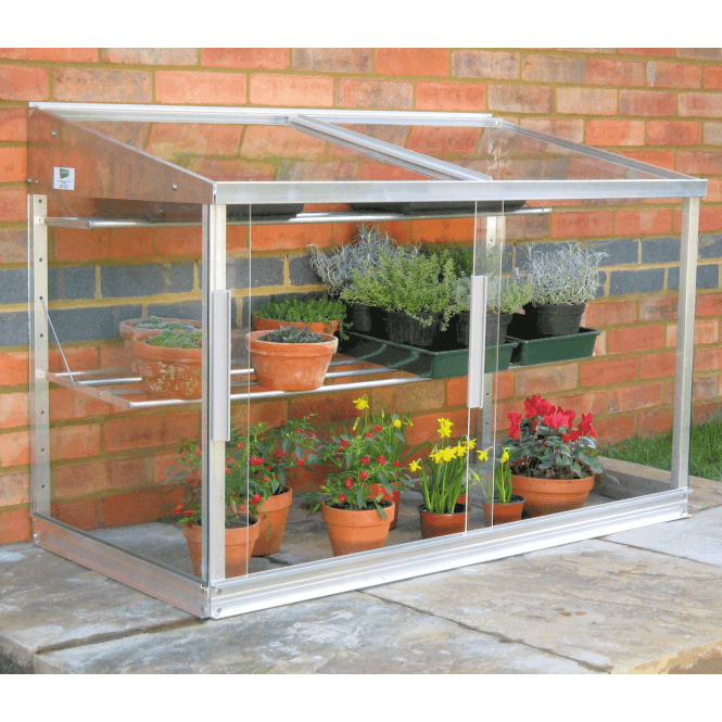 Click to view product details and reviews for Aluminium Lean To Half Wall Frame Greenhouse.