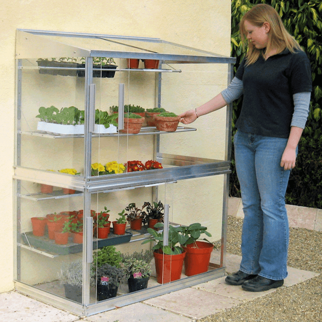 Click to view product details and reviews for Aluminium Lean To Wall Frame Greenhouse 4ft.