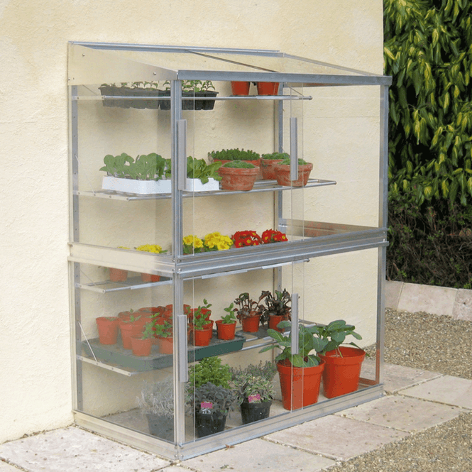 Click to view product details and reviews for Aluminium Lean To Wall Frame Greenhouse 6ft.