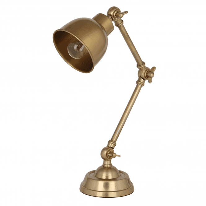 Click to view product details and reviews for Antique Brass Task Table Lamp Complete.