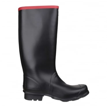 Argyll Full Knee Wellington Boots in Black