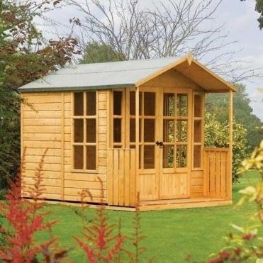 Arley Summer House with Covered Veranda