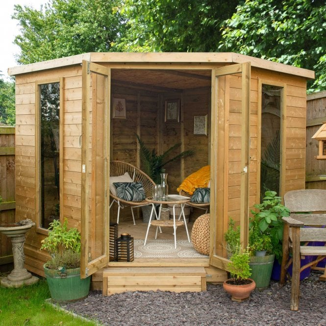 Click to view product details and reviews for Arlington 8 X 8 Corner Summer House.