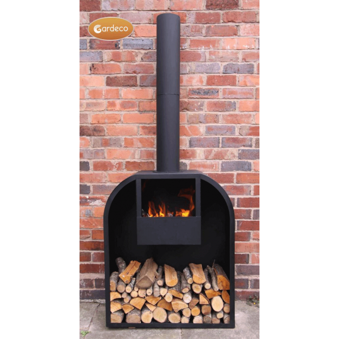 Arno Log Fireplace With Rounded Shoulders