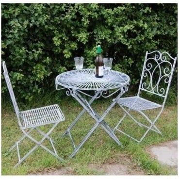 Ascalon Heritage Grey Bistro Set
