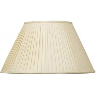 Bacall Silk Knife Pleat Tapered Lamp Shade 30cm