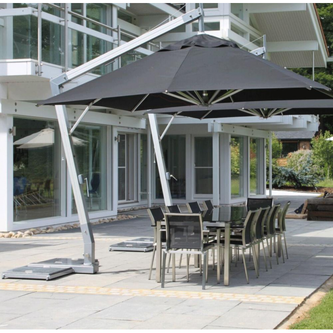 Click to view product details and reviews for Bambrella Side Wind Hurricane 30m Square Spuncrylic Parasol.