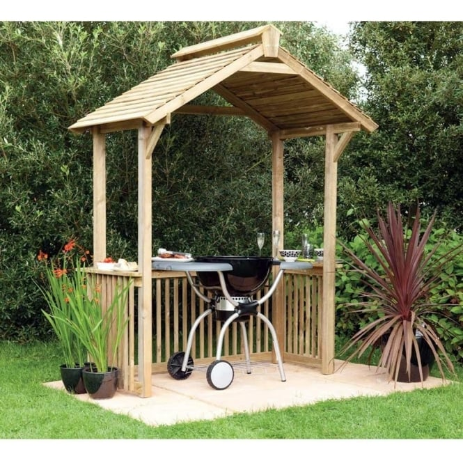 Click to view product details and reviews for Bbq Shelter Pressure Treated Finish.