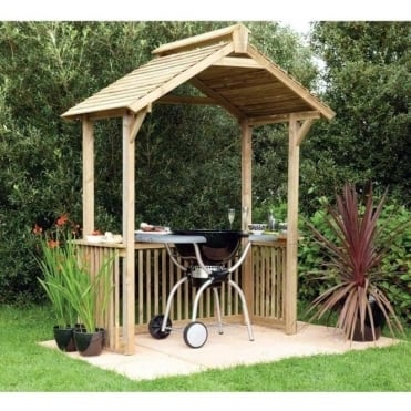 BBQ Shelter - Pressure Treated Finish