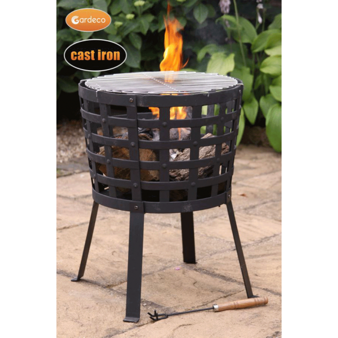 Big Fire Cast Iron Fire Basket