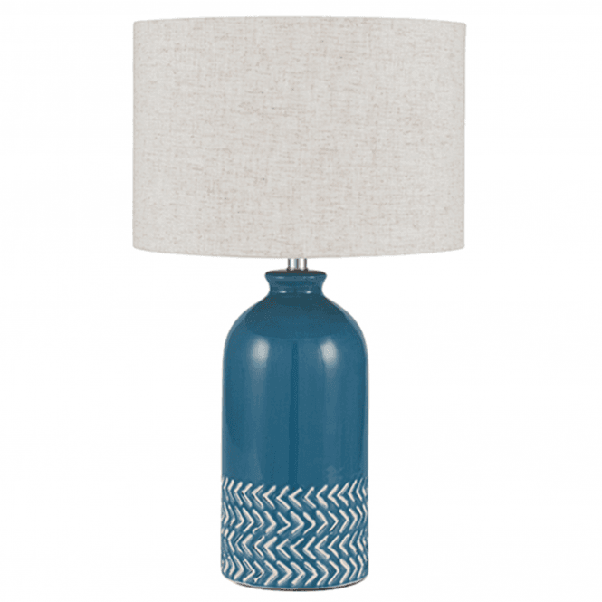 Click to view product details and reviews for Blue Ceramic Complete Table Lamp.