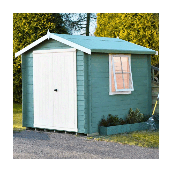 Click to view product details and reviews for Bradley Log Cabin 7 X 7.