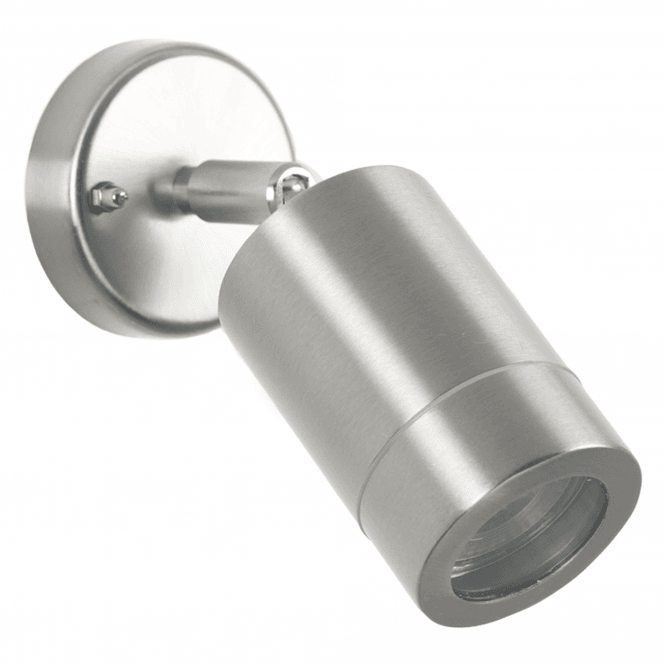 Click to view product details and reviews for Brushed Steel Adjustable Outdoor Spot Wall Light.