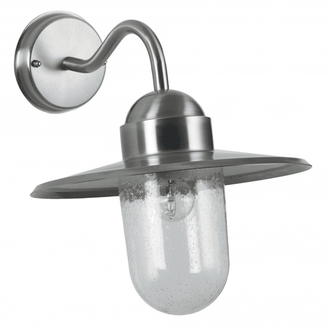 Click to view product details and reviews for Brushed Steel Fisherman Outdoor Wall Light.