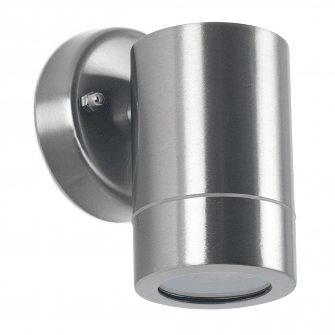 Click to view product details and reviews for Brushed Steel Fixed Spot Wall Light.