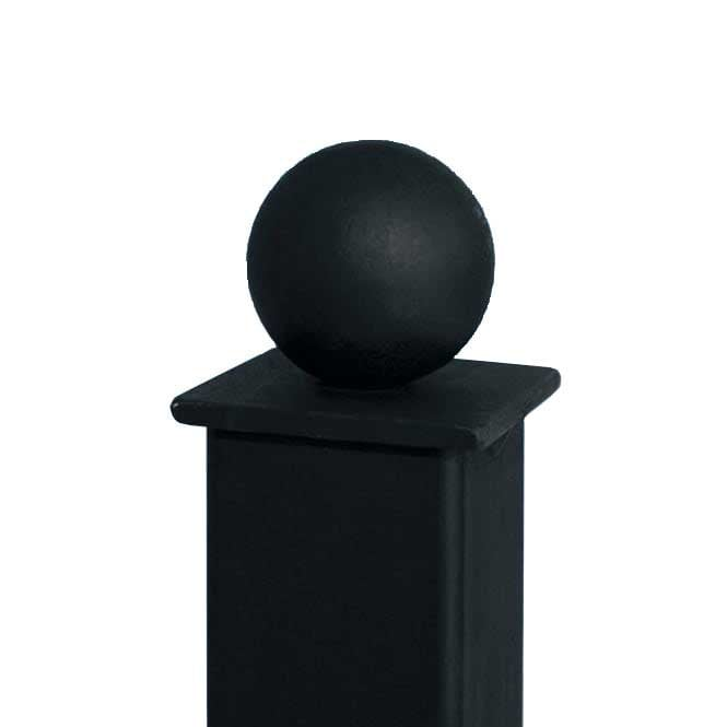 Burbage Iron Craft 50mm X 50mm Metal Ball Top Concrete In Post