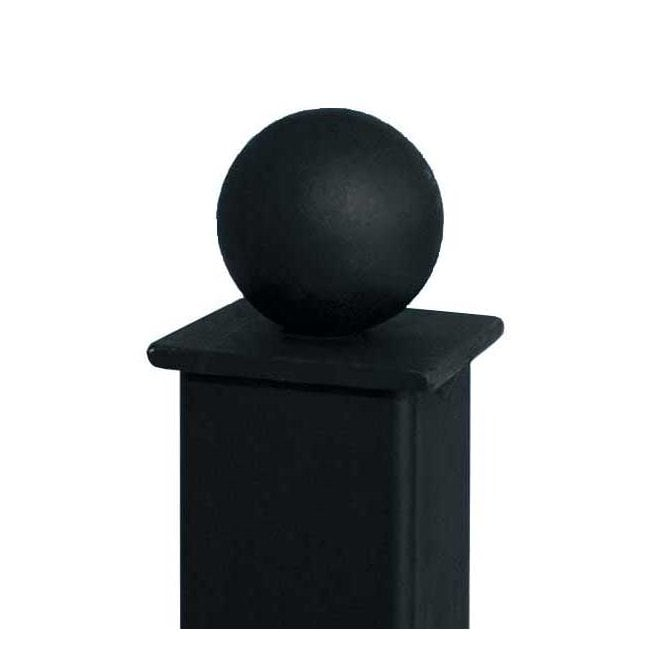 Burbage Iron Craft 70mm X 70mm Metal Ball Top Concrete In Post
