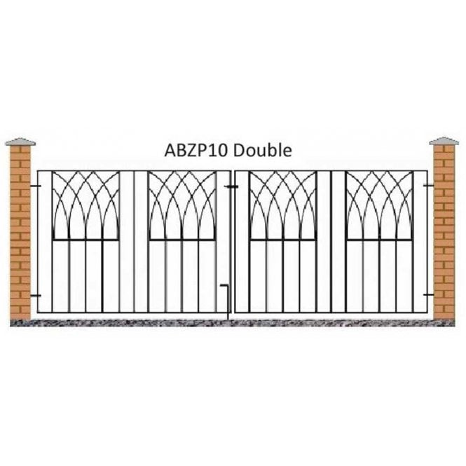 Click to view product details and reviews for Burbage Iron Craft Abbey Double Driveway Gate.