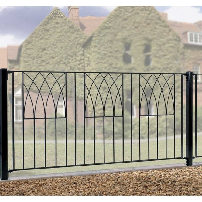 Click to view product details and reviews for Burbage Iron Craft Abbey Fence Panel.