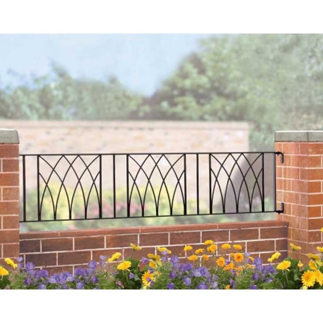 Click to view product details and reviews for Burbage Iron Craft Abbey Railing Panel.
